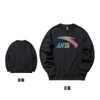 安踏套�^�l衣男官�W正品2021春季新款黑色大LOGO��松��衫上衣潮952038709
