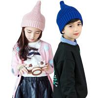 kk树新款手工儿童帽子秋冬时尚保暖宝宝帽子男女童奶嘴针织帽