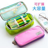 笔袋大容量大学生文具袋韩国女小清新可爱铅笔袋小学生用男生简约收纳包儿童笔盒化妆包