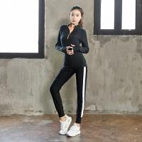 大码秋冬运动套装女装健身房跑步宽松胖mm200斤晨跑速干衣瑜伽服