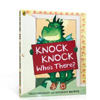 英文原版绘本 Knock Knock Who's There? 是谁敲我家的门?My dad My mum同名家Ant