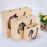 白卡牛皮纸袋子定做批发手提袋礼品袋服装袋订做可印logo