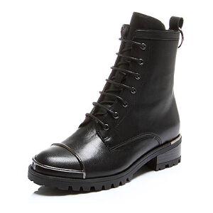 Belle/百丽冬专柜同款油皮牛皮女短靴BLQ41DD6