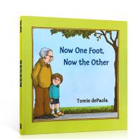 英文原版 Now One Foot, Now the Other绘本 汪培�E第二阶段吴敏兰书单