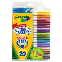 [Crayola绘儿乐]20色可水洗细杆水彩笔 马克笔 套餐组 58-8106
