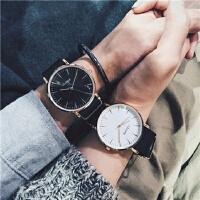 手表男学生休闲大气复古帆布带情侣手表一对男女