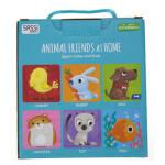 【正版直发】英文原版4 CUBES BOOK ANIMAL FRIENDS AT HOME4个方块和书 English