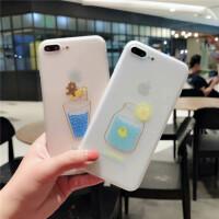苹果6手机壳iPhone7浮雕软壳6splus磨砂8p夏季可爱创意x情侣男女
