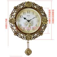 钟表欧式挂钟客厅静音简约现代时尚个性钟美式钟创意表石英时钟大 20英寸(直径50.5厘米)