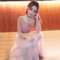 夏季套装女时尚两件套2018新款小礼服名媛小香风淑女网纱半身裙潮