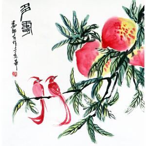 娄师白《多寿》中国画艺术大师