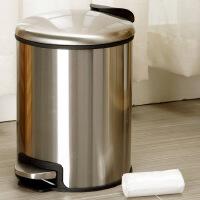 欧润哲 静音缓降不锈钢垃圾桶(自带胶袋式)送垃圾袋 收纳桶套装