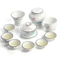 功夫茶具套装简约盖碗茶杯茶具整套礼盒装茶具
