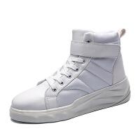 CUM 男士高帮板鞋潮流厚底增高运动鞋子男休闲鞋子秋冬季百搭小白鞋男