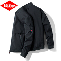 Lee Cooper秋季服装时尚男款运动夹克衫防风简约棒球服潮流大码休闲男士外套
