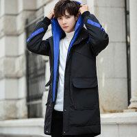 男士外套冬季2018新款羽绒潮流韩版中长款棉衣服工装袄子男装