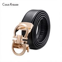 【1件3折,到手价:142.8元】Clous Krause ck男士皮带商务潮流牛皮中青年腰带自动扣休闲裤袋(1100