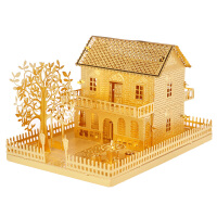 3D立体拼图模型小别墅小屋房子拼装玩具益智手工制作