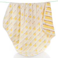 纯棉三层纱布小被子宝宝婴儿方形浴巾婴儿童毛巾被盖毯子春夏薄被 紫红色 升级皇冠120*150