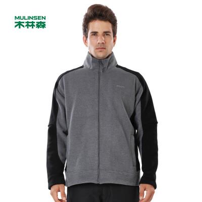 木林森男装  春季新款男开衫保暖摇粒绒保暖卫衣外套01361403