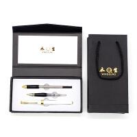英雄实业永生钢笔688C 3件套装陶瓷白 明尖暗尖铱金钢笔美工笔宝珠笔签字笔 学生成人办公书法练字墨水笔礼品钢笔
