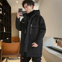 男士羽绒服中长款2019新款潮牌韩版潮流冬季加厚青年帅气男外套潮