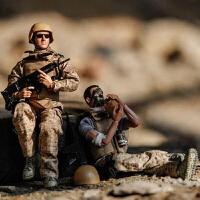 含武器装备公仔手办男儿童玩具1/6兵人模型军事套装