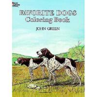 【预订】Favorite Dogs Coloring Book