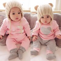 婴儿秋儿童睡衣男童女童宝宝长袖家居服珊瑚绒套装