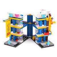 儿童积木拼装玩具6-7-8-10岁男孩子小颗粒塑料12小学生拼插3