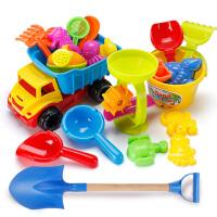 儿童沙滩玩具车套装桶宝宝玩沙挖沙漏大号铲子戏水洗澡决明子工具