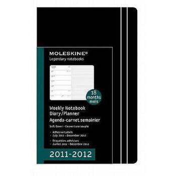 【预订】Moleskine 2012 18 Month Weekly Notebook Planner 美国库房发货,通常付款后3-5周到货!