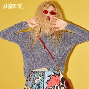 【限时清仓价:87】妖精的口袋Y秋季新款短款女生ins宽松学生毛衣韩版针织衫潮