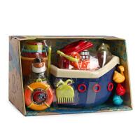 美国进口b.toys 儿童宝宝洗澡玩具 海盗船钓鱼玩具套装6个月+