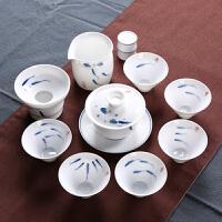 景德镇手绘功夫陶瓷茶具整套装现代简约全套简易铁观音6人办公室