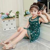 女童夏装背心公主裙洋气2018新款韩版夏季宝宝儿童网纱裙子连衣裙