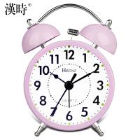 【限时特惠】汉时钟表 闹钟创意儿童电子钟卡通可爱静音懒人3英寸小闹钟HA01 此款闹钟响铃声音约为85-90分贝,测试