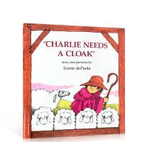 【全店300减100】英文原版绘本 Charlie Needs a Cloak 阿利的红斗篷 平装 儿童启蒙睡前图画故事