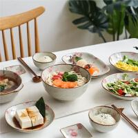 漫舞樱花陶瓷30头餐具套装家用盘子饭碗面碗汤碗碟套装