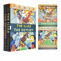 英文原版 The Iliad/The Odyssey 荷马史诗集 礼盒装 伊利亚特+奥德赛 2册精装插图收藏版