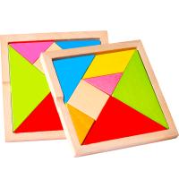 榉木质七巧板智力拼图儿童玩具宝宝拼板七巧板智力拼图