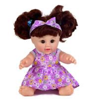 仿真洋娃娃玩具婴儿宝宝软胶会说话女孩早教搪胶娃娃可洗澡 30厘米普通四声