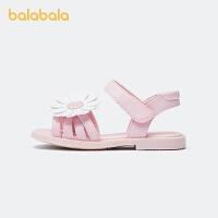 【3件5折价:80】巴拉巴拉官方童鞋儿童凉鞋女中童防滑花朵装饰萌夏季鞋子