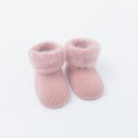 2019 秋冬加绒加厚婴儿袜子无骨松口保暖防滑宝宝袜0-1-3新生儿中筒袜