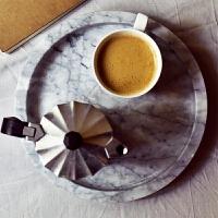 北欧简约风天然大理石托盘桌面置物盘首饰收纳盘展示盘