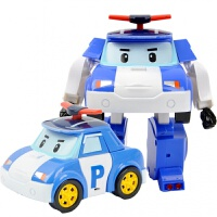 韩国珀利波力警车POLI消防车手动变形机器人儿童玩具83168-1儿童节礼物