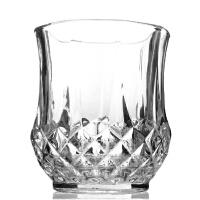 钻石圆底平底柳叶扇形古典威士忌酒杯玻璃杯啤酒杯水杯