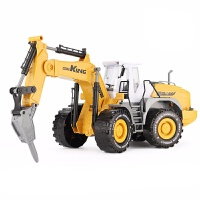 男孩大号惯性工程车玩具汽车模型挖掘机铲车推土机儿童仿真玩具儿童节礼物