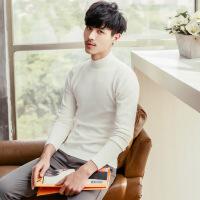 半高领毛衣男韩版修身个性加绒加厚中2018新款潮流冬季针织打底衫