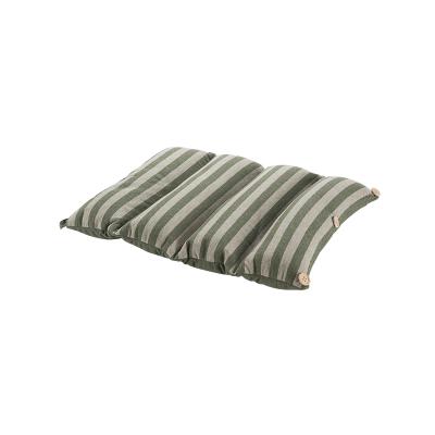 【网易严选 限时抢】日式多功能手卷午睡枕坐垫 全棉针织条纹,透气按摩粒子